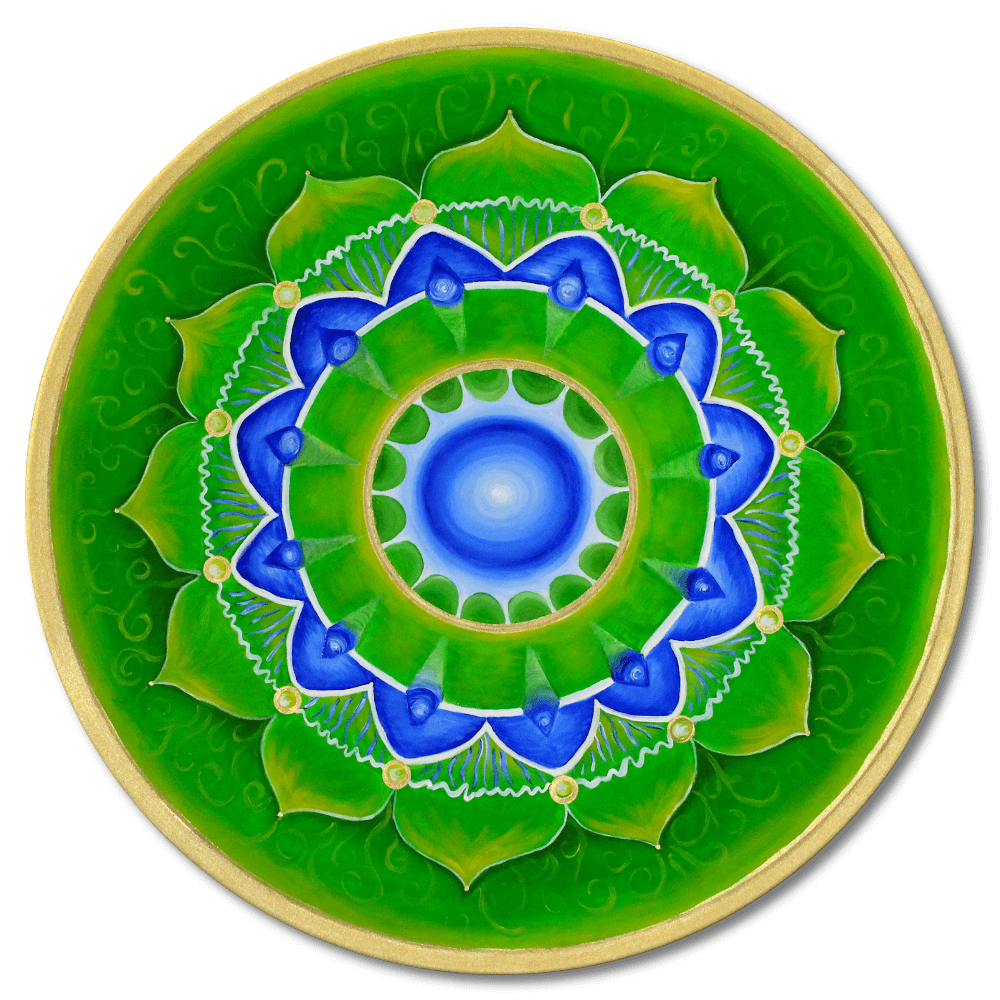 Mandala Herzchakra Frontalbild Art 158