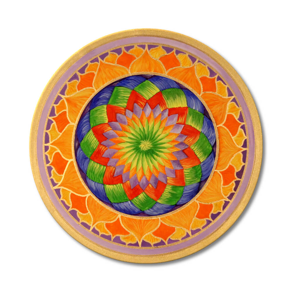 Mandala Lotus Frontalbild Art 148
