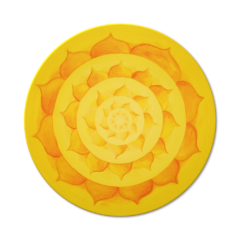 Wandbild Energiebild Lotussonne Mandala Gold_Frontalbild