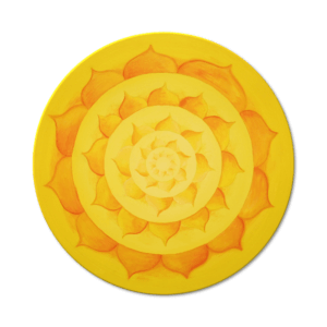 Wandbild Energiebild Lotussonne Mandala Gold Frontalbild
